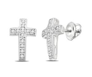 10K-White-Gold-Diamond-Cross-Earrings-Micro-Pave-diamond-Religious-Studs-10ct