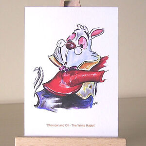 The-White-Rabbit-Alice-in-Wonderland-WDCC-drawing-ACEO-art-card