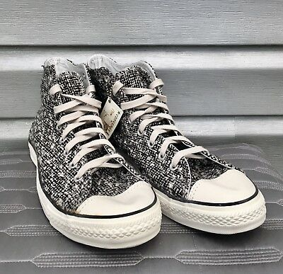 CONVERSE Twill Tweed Chuck Taylor All Star High Top Lace Up Sneakers RARE!!   eBay