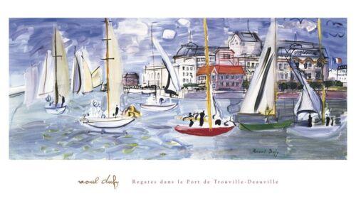 Regates dans le Port de Trouville by Raoul Dufy Art Print Sailing Poster 24x40