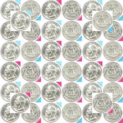 1974 P+D Washington Quarter Set ~ Uncirculated Coins in Original Mint Cello