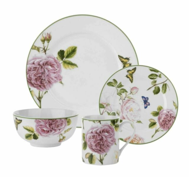 Melange Coupe 16 Piece Porcelain Dinnerware Set Winter Fox Service For 4 For Sale Online Ebay