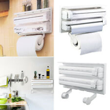Kitchen Triple Paper Dispenser Cling Film Tin Foil Roll Holder - Kitchen paper towel dispenser