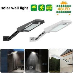 60LED-Solaire-Pir-Mouvement-Capteur-Securite-Lumiere-Exterieur-Jardin-Lampe
