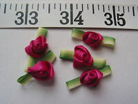 7135 Ribbon Roses Flowers Magenta 1x1/2 36 Pcs