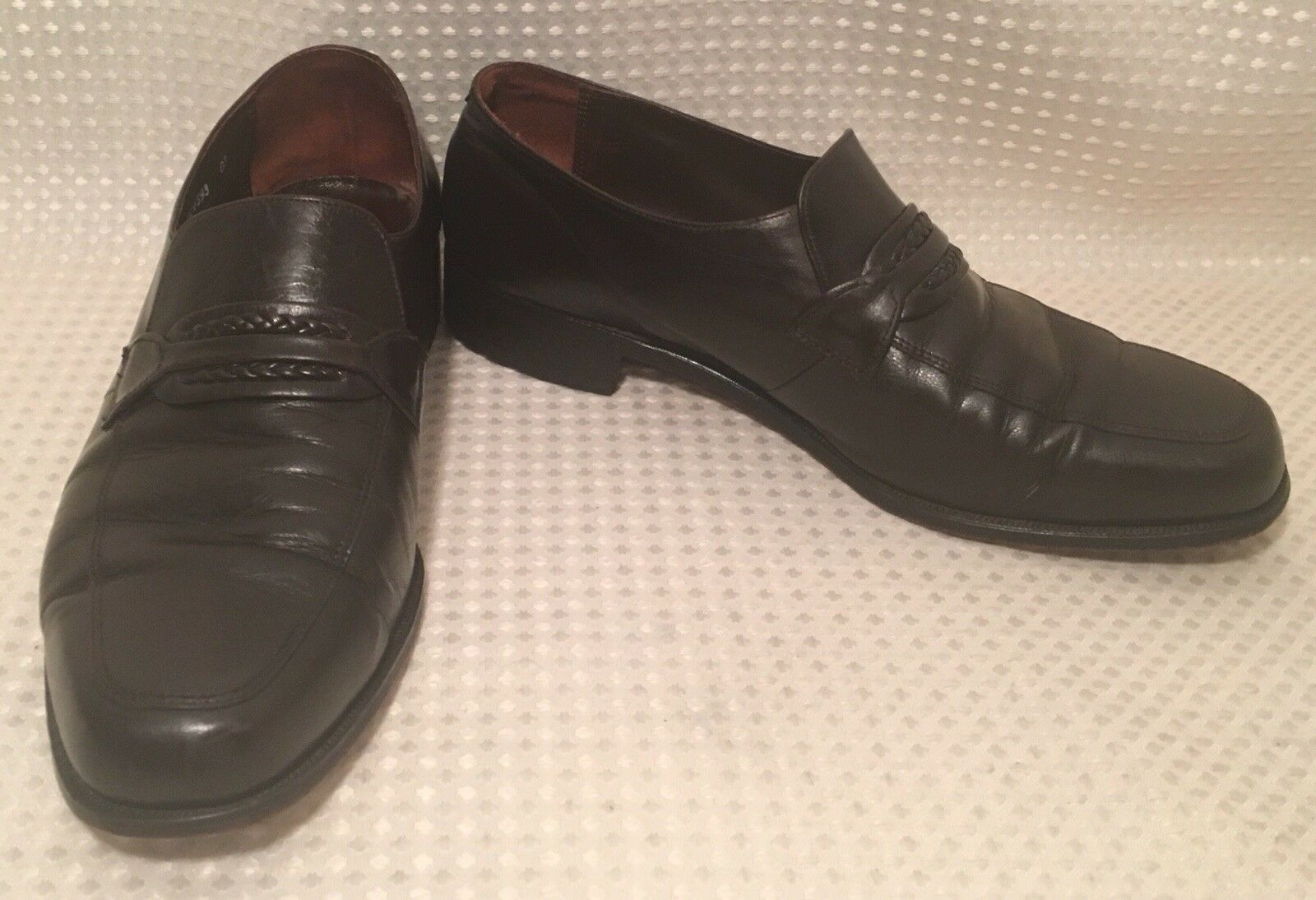 Florsheim Leather Loafers Men's Dress shoes Dark Brown Slip On Comfort Sz 10