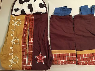 Lot 3 Pcs Geeny Western Cowboy Diaper Stacker 2 Valance Horse Crib Nursery