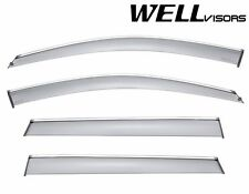WellVisors Side Window Visors Deflectors W/ Chrome Trim For 14-Up Jeep Cherokee