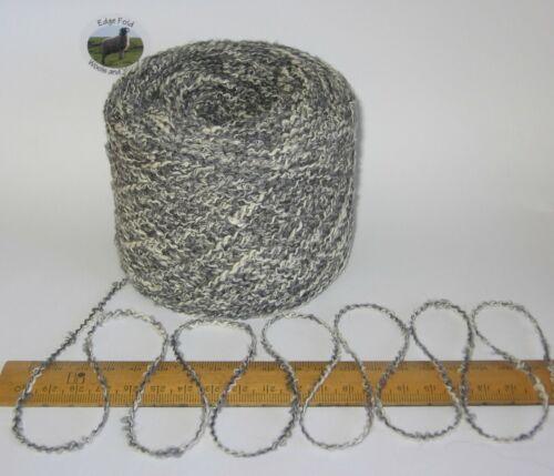100g balls Grey marl wavy boucle double knitting dk wool /& acrylic yarn toys etc
