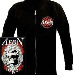 Aeon-Fist-Of-Hell-Hoodie-M-L-XL-Black-Hooded-Sweatshirt-Hoody-Death-Metal-New