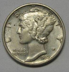 1924-d Mercury Head Dime Average Grade of Coin You Will Receive Is Photographed