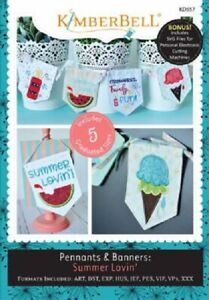 KimberBell-Embroidery-CD-Summer-Lovin-Pennants-amp-Banners-KD557