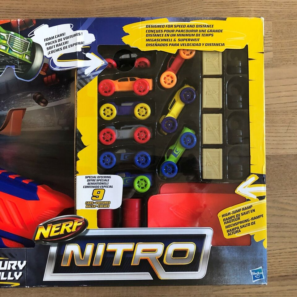 NY uåbnet Nerf Nitro Motofury Rapid Rally, NERF NITRO