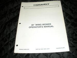 gravely 40 mower manual