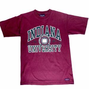 Indiana-University-Jansport-Mens-Medium-Red-Burgundy-Graphic-T-Shirt-Hoosiers