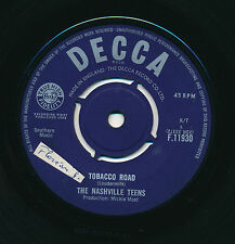 "THE NASHVILLE TEENS 45 TOURS 7"" UK TOBACCO ROAD"