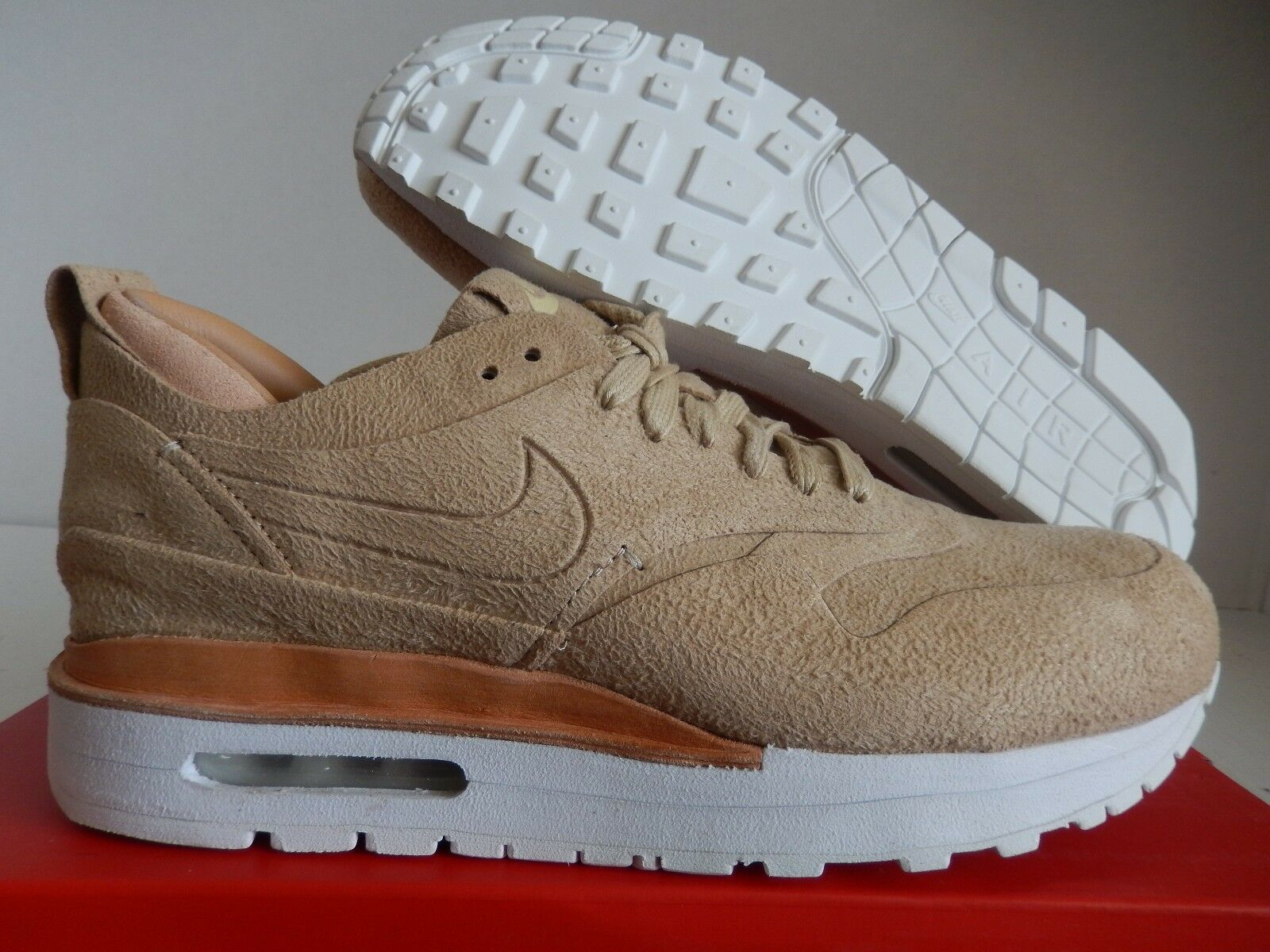 WMNS NIKE AIR MAX 1 ROYAL LINEN BROWN-SUMMIT WHITE SZ 8.5 [847672-221]