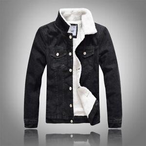 cea51158d6a Slim winter wear Men s jeans Cotton jacket Warm plus velvet thick ...