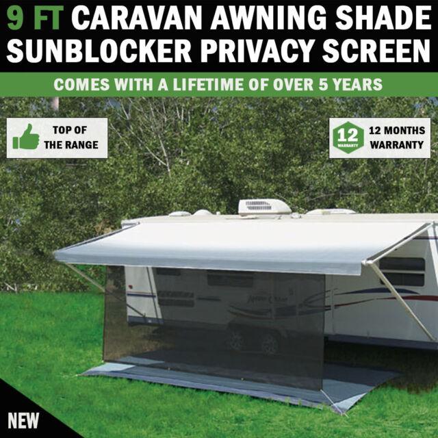 NEW 9 FT Caravan Privacy Screen Sun Blocker Sunshade Suit Fits All