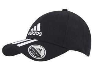 adidas-6P-Training-Cap-3-Stripes-Tennis-Hat-UV-Protection-Black-Cotton-DU0196