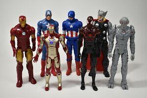 Lot-of-7-Avengers-12-034-Ultron-Captain-America-Spiderman-Talking-Iron-Man-Thor