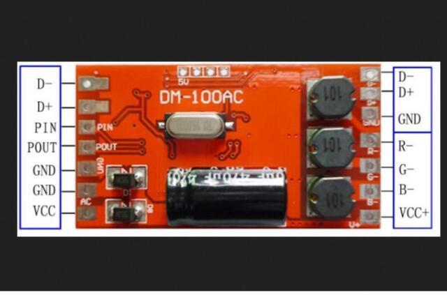 300mA 18W 3 Channel DMX512 Decoder Board LED DJ RGB Stage Lighting Driver Module