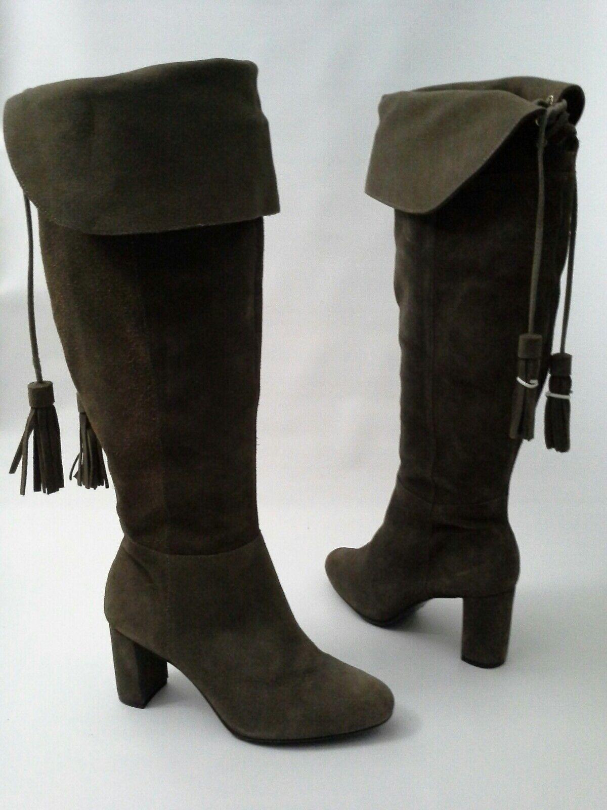 Anthropologie Bella Tassel Boot Heel Suede by by by Klub Nico 6 US 37 EUR Brown   245 c7c534