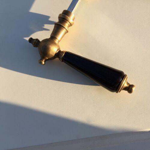 Gründerzeit Türdrücker Türgriff mit schwarzer Keramik Türklinke wie antik
