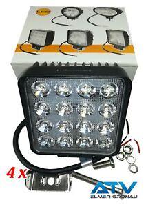 Sinnvoll 4 X 9-33v Premium Led Arbeitsscheinwerfer 3040lm Ip67 Eu-qualität Lampen & Licht