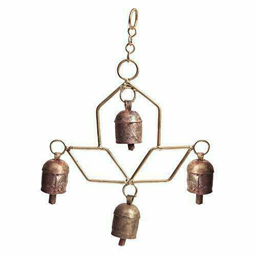 Decorative 4 Bell Indian Style Wall Hanging Beautiful Handmade Home Docorative
