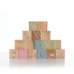 Details About Guess How Much I Love You Picture Blocks Wooden Toy