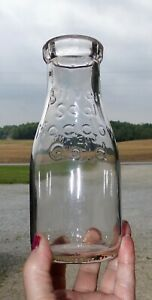 vintage-034-SILVER-SEAL-MEADOW-GOLD-034-ONE-pint-milk-dairy-bottle