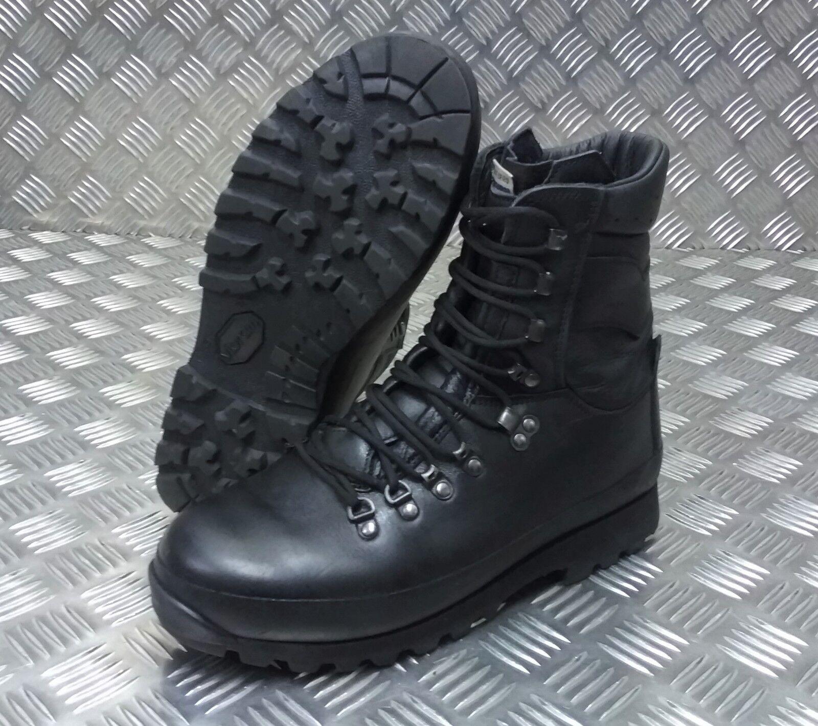 Genuine British Army Alt-Berg Combat Leather Assault   Patrol Combat Boots BLK