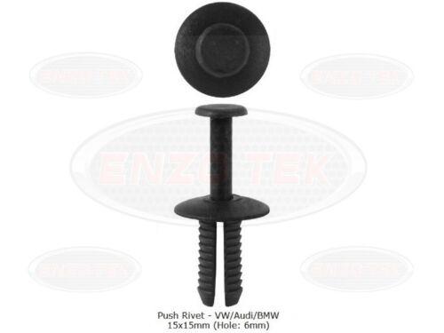25x BMW/VW/Audi Push Fit Plastic Rivet Pin Clip- Bumpers Bodyshop Fixings