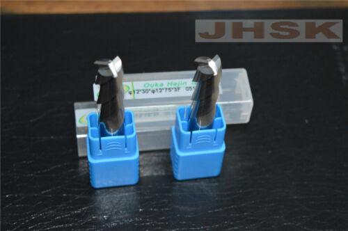 φ12*30*φ12*75*3F Carbide End Mill Bits Milling Cutter for Aluminum  3-Flute 1pcs