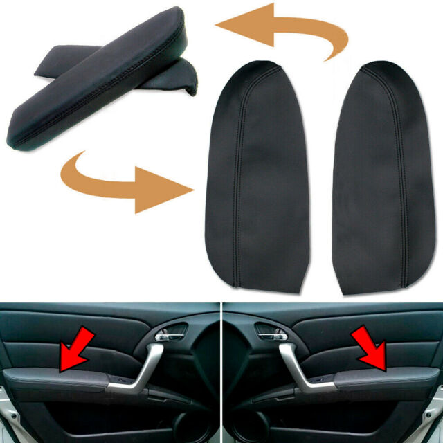 2pcs Leather Front Door Panel Armrest Cover Fits For Acura