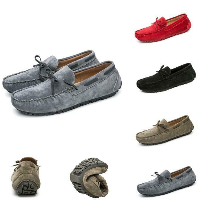 Mens Gommino Loafers Outdoor Slip On Driving Moccasins Pumps Bowknot sautope nuovo