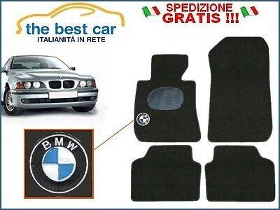 BMW SERIE 5 (E39) tappetini auto su misura con battitacco e logo ricamato