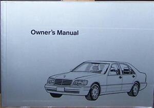 1995 mercedes s350 owners manual parts service w140 new original ebay rh ebay com Mercedes W140 Diesel Mercedes W220