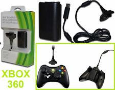 Play & Charge kit XBOX 360. Batteria riserva ricaricabile per joypad, joystick.