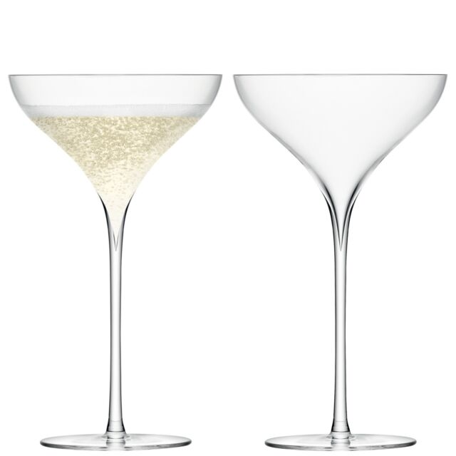 LSA Savoy Champagne Saucer Clear - Set of 2