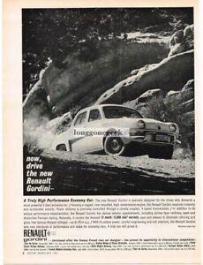1961 Renault Gordini hot Classic Advertisement Ad P40