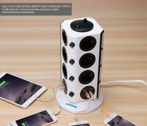 Regleta-Alargador-2m-con-14-Tomas-4-Puertos-USB-Enchufes-Proteccion-Interruptor