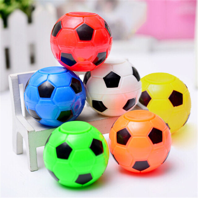 Plastic Football Soccor Fidget Finger Spinner Hand Desk Gyro Focus Toy Gift