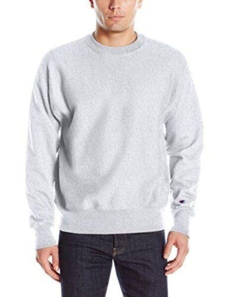 41b06e6e9 Buy Champion Mens Life Reverse Weave Crew GFS Silver/grey M online   eBay