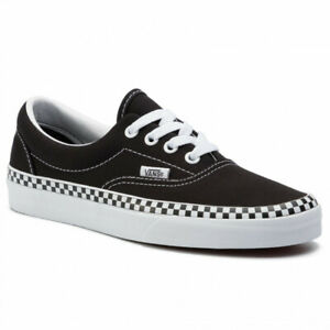 VANS-CHECK-FOXING-ERA-Scarpe-Donna-Sneakers-Canvas-BLACK-VN0A38FRVOS1