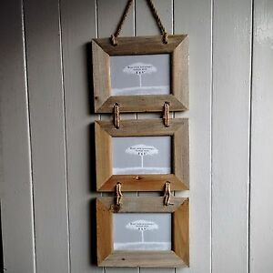 PHOTO-PICTURE-FRAME-DRIFT-WOOD-STYLE-HANGING-3-X-6-x-4-INDIAN-FAIR-TRADE-GIFT