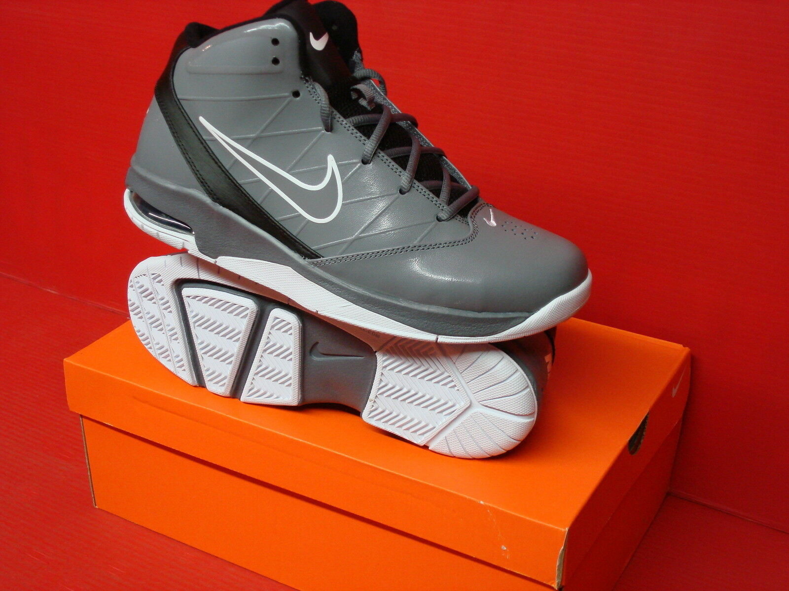 NIKE AIR TEAM HYPED Cool II MENS BASKETBALL 454485 Cool HYPED Grey/Cool Grey-Blk-White ... 9624ef