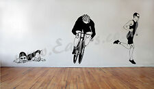 Vinyl wall art TRIATHLON RUNNER decal
