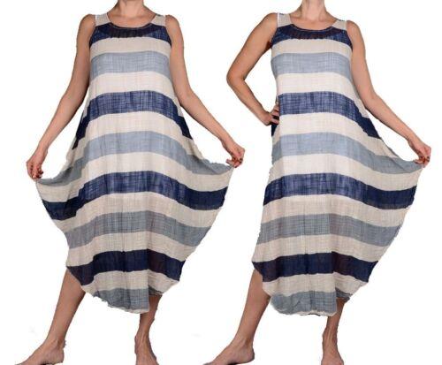 2tl verano vestido twinset túnica camisa top Lagenlook 38 40 42 44 46 S M L globo